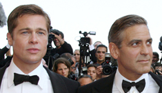 Brad Pitt and George Clooney make housevisit to depressed widow
