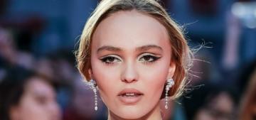 Lily-Rose Depp wears Chanel, Timothee Chalamet wears LV to 'The King' premiere