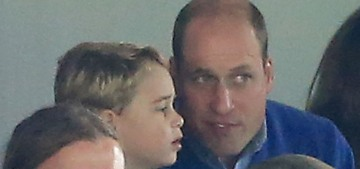 Prince George went crazy at an Aston Villa football game with his parents