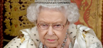 Queen Elizabeth opened Parliament & the Imperial crown hitched a ride ahead of her