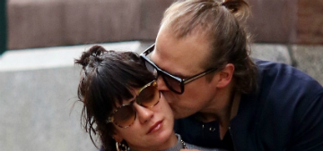 David Harbour and Lily Allen show major PDA and a manbun