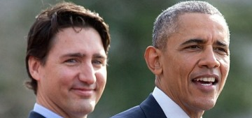 Barack Obama endorsed Canada's prime minister Justin Trudeau for re-election