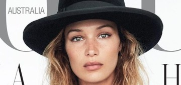 Bella Hadid covers Vogue Australia & Vogue Netherlands: which is the better cover?