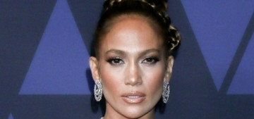 Jennifer Lopez in chartreuse Reem Acra: best dressed of the Governors Awards?