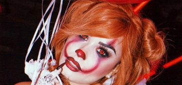 Celebrity pre-Halloween costumes including Demi Lovato as sexy Pennywise