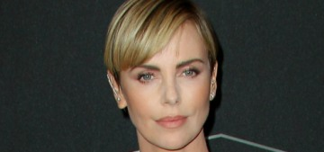 Charlize Theron in a bejeweled McQueen at the Hollywood Film Awards: stunning?