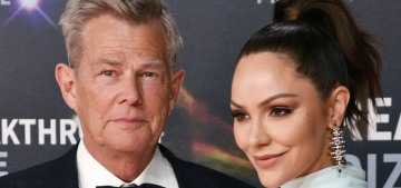 Katharine McPhee, 35, couples up with David Foster, 70, at the Breakthrough Awards