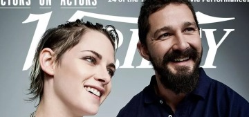 Shia LaBeouf & Kristen Stewart's Actor-on-Actor interview was so delicate & sweet