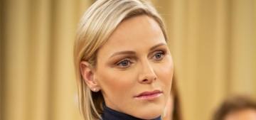 Princess Charlene looked sad as she gave gifts to Monaco's disadvantaged
