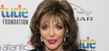 Joan Collins hates jeans, calls them tragic and can't stand when they have holes
