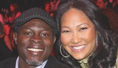 Kimora Lee Simmons & Djimon Hounsou debut baby Kenzo