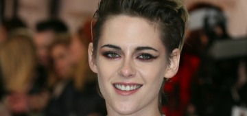 Kristen Stewart wore a great Thom Browne at the UK 'Charlie's Angels' premiere