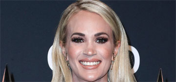 Carrie Underwood in Stello at the AMAs: bizarre but at least she switched it up?