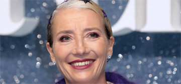Emma Thompson warns of climate change, jokes about people eating their pets