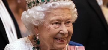 Queen Elizabeth II wore a never-before-seen emerald necklace last week