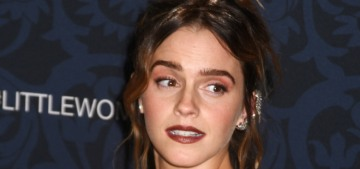Why has Emma Watson been largely M.I.A. during 'Little Women' promotion?
