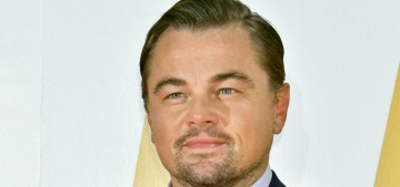 Leonardo DiCaprio is happy about the Golden Globes' vegan-only cuisine