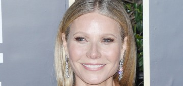 Gwyneth Paltrow wore ruffled, sheer Fendi to the Golden Globes: tacky & cheap?