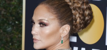 Jennifer Lopez wore Valentino to the Globes: Christmas gift chic or re-gift it?