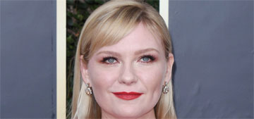 Kirsten Dunst in Rodarte at the Golden Globes: dippy but it doesn't matter?