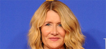 Laura Dern in Saint Laurent at the Golden Globes: one of her worst looks or striking?