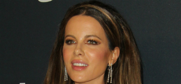 Kate Beckinsale in Romona Keveza at the InStyle Golden Globes party: overdressed?