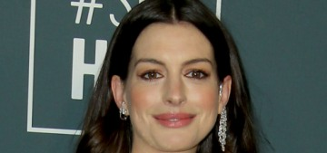 Anne Hathaway in Versace at the Critics' Choice Awards: disco ball realness?