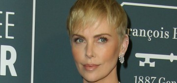 Charlize Theron in Celine at the Critics' Choice Awards: basic or sleek?