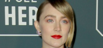 Saoirse Ronan in Erdem at the Critics' Choice: one of her better looks this season?