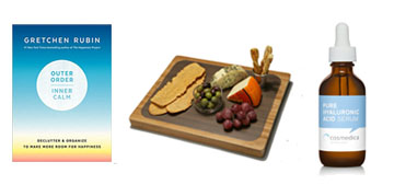 A cutting board with different mats for easy cleanup and serum for smooth skin