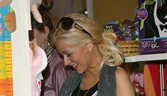 Christina Aguilera's not above registering for baby presents