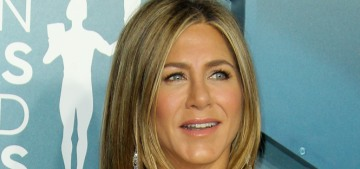 Jennifer Aniston wore Dior and got congratulated by Brad Pitt at the SAGs