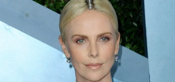 Charlize Theron wore Givenchy, with a diamond-accented hairstyle, to the SAGs