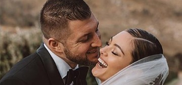 Tim Tebow & Demi-Leigh Nel-Peters married in South Africa, she wore David's Bridal
