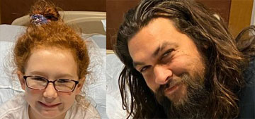 Jason Momoa visited a children's hospital in Pittsburgh for the Make-A-Wish Foundation