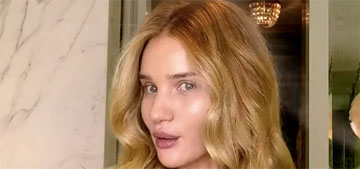 Rosie Huntington-Whiteley shows how she does beachy waves & it's mesmerizing