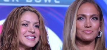 Jennifer Lopez & Shakira's contrasting styles are the talk of the Super Bowl presser