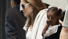 Zahara Jolie Pitt flips off photographers