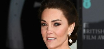 Duchess Kate repeats a custom McQueen for the BAFTAs: lovely or poorly styled?