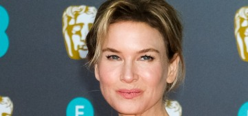 Renee Zellweger in pink Prada at the BAFTAs: vintage prom style forever?