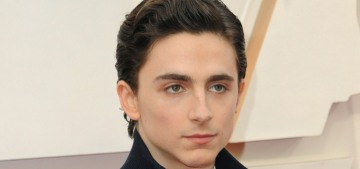 Timothee Chalamet in a nylon Prada 'suit' at the Oscars: mechanic realness?