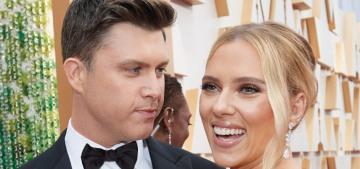 Scarlett Johansson in Oscar de la Renta at the Oscars: lovely or too beige?