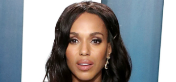 Kerry Washington in Zuhair Murad at the VF Oscar Party: goddess or too busy?