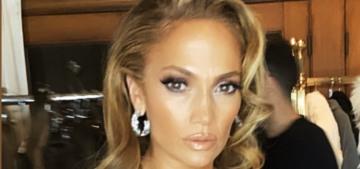 Jennifer Lopez's Oscar-party look didn't involve saloon boob-tassels (cough)