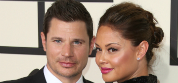 Nick Lachey and Vanessa Minnillo play rock paper scissors to solve conflicts