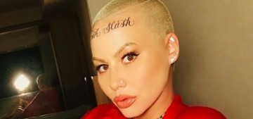 Amber Rose defends her new, giant forehead tattoo reading 'Bash Slash'