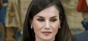 Queen Letizia in a sleek COS dress in Madrid: chic, goth, fab or all of the above?