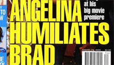"""In Touch: Angelina Jolie """"humiliates"""" Brad Pitt at 'Basterds' premiere"""