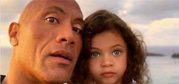 Dwayne Johnson tries to get his daughter to say 'Daddy's the best' and she says 'Mother!'