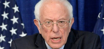 Bernie Sanders is not dropping out of the primary race, because of course